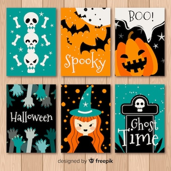 Collezione di carte di halloween