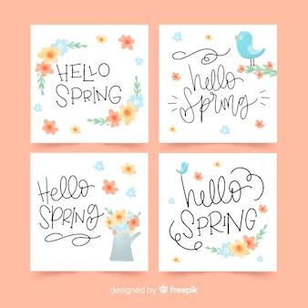 Collezione di carte di primavera