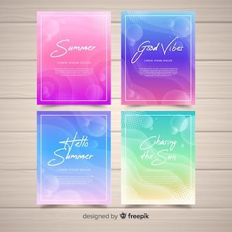 Collezione di carte estive liquide