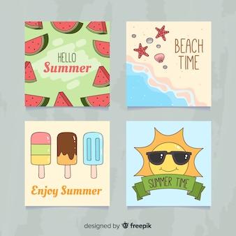 Collezione di carte estive