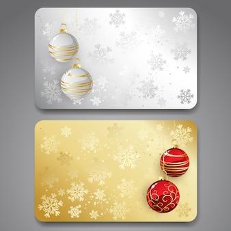 Collezione di carte regalo con nastri