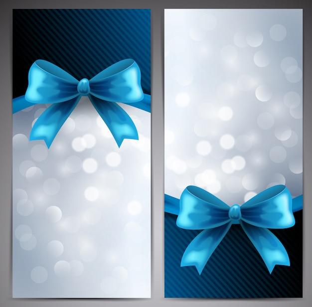 Collezione di carte regalo con nastro