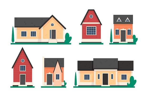 Collezione di case illustrata