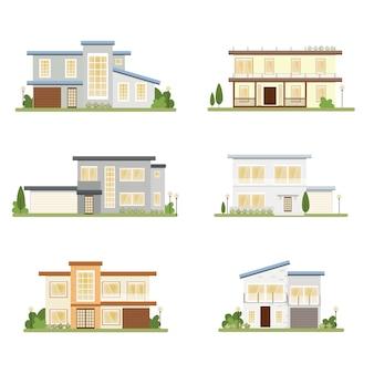 Collezione di case in stile moderno