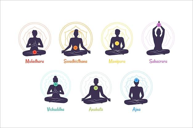 Collezione di chakra del corpo