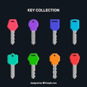 Collezione di chiavi colorate