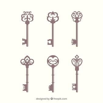 Collezione di chiavi d'epoca