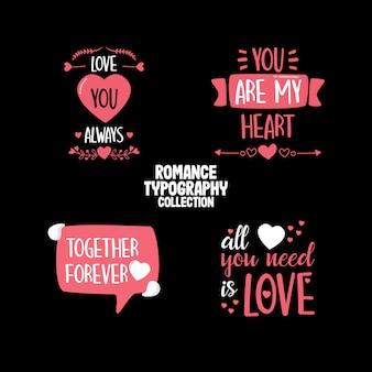Collezione di citazioni romantiche