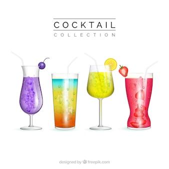 Collezione di cocktail realistici