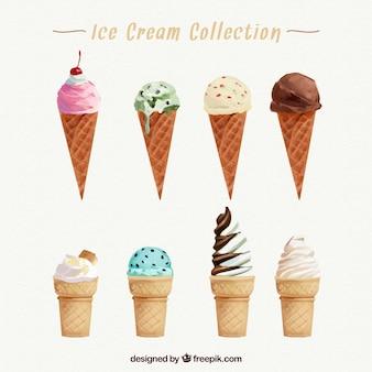 Collezione di cono di gelato
