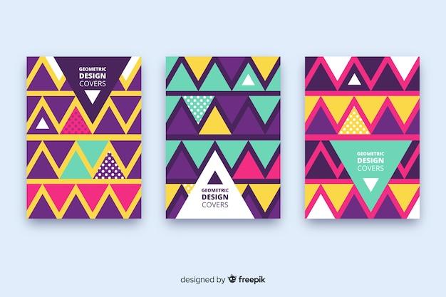 Collezione di copertine con design geometrico