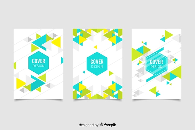 Collezione di copertine con disegno geometrico