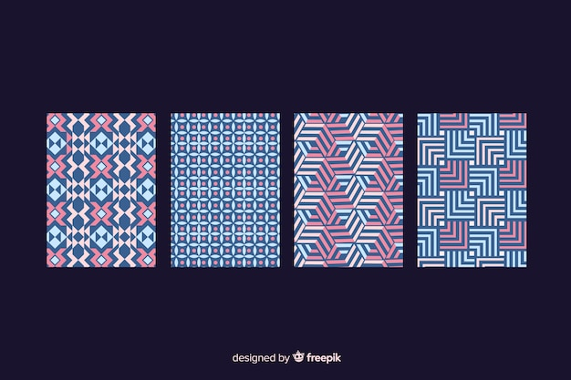 Collezione di copertine con motivi geometrici