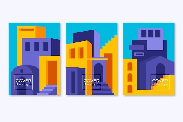 Collezione di copertine di architettura minimale