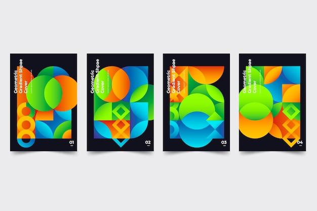 Collezione di copertine di forme geometriche sfumate