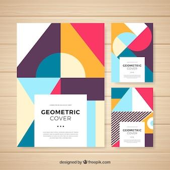 Collezione di copertine geometrica