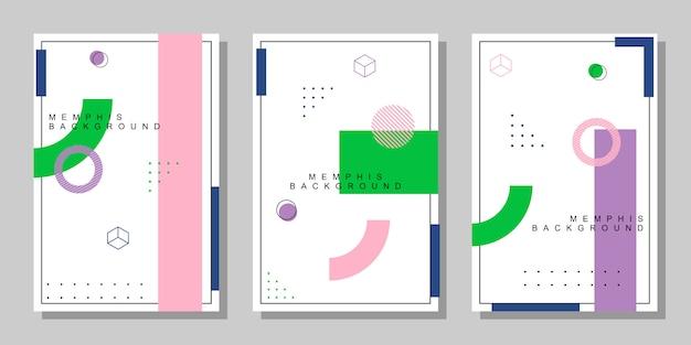 Collezione di copertine geometriche astratte di memphis