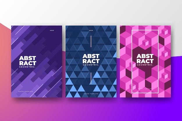 Collezione di copertine geometriche astratte