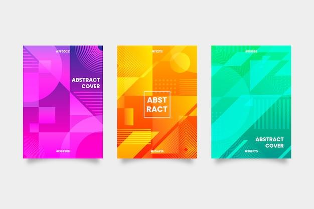 Collezione di copertine geometriche colorate