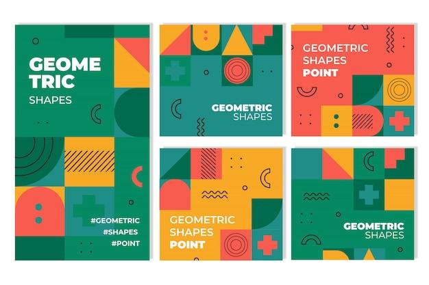 Collezione di copertine geometriche di graphic design