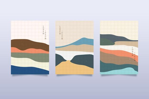 Collezione di copertine giapponese minimal
