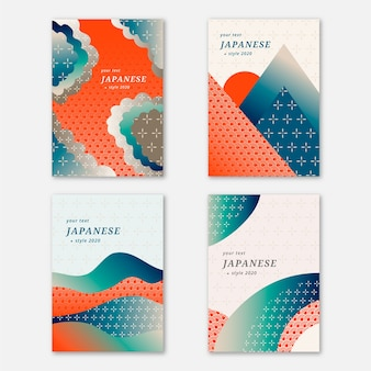 Collezione di copertine giapponese semplicistica