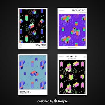 Collezione di copertine modello isometrico