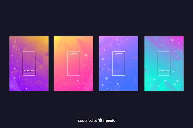 Collezione di copertura colorata tecnologia gradiente