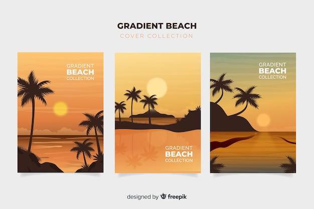 Collezione di copertura per spiaggia gradiente
