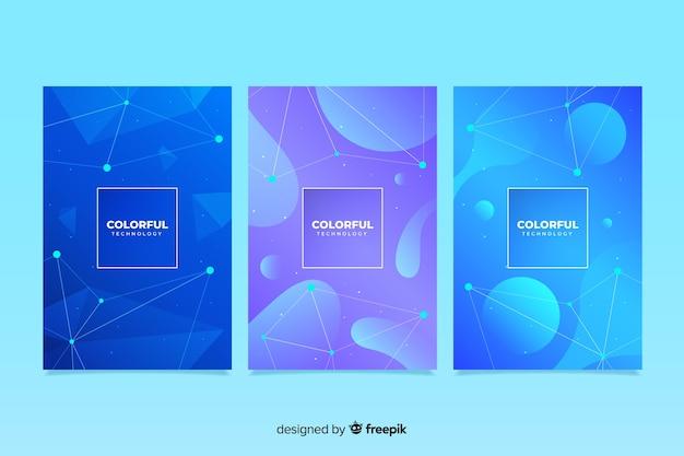 Collezione di copertura tecnologia colorata