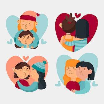Collezione di coppia di san valentino
