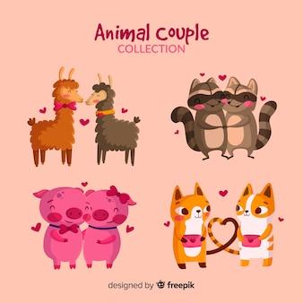 Collezione di coppie di animali