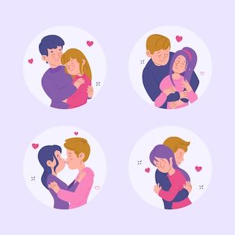 Collezione di coppie di innamorati