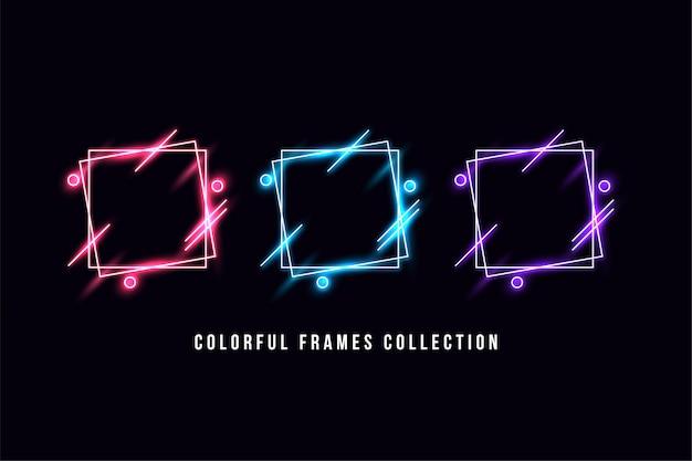 Collezione di cornici colorate