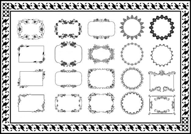 Collezione di cornici disegnate a mano