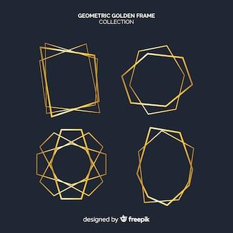 Collezione di cornici geometriche dorate