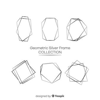 Collezione di cornici geometriche in argento