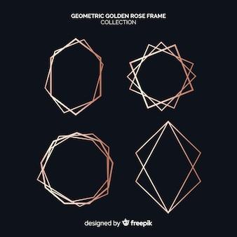 Collezione di cornici geometriche in oro rosa