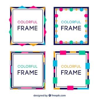 Collezione di cornici in stile colorato