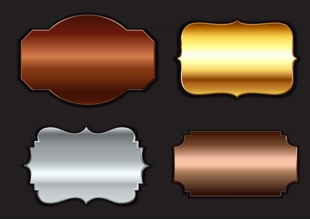 Collezione di cornici metalliche