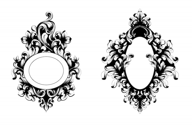 Collezione di cornici specchio vintage barocco