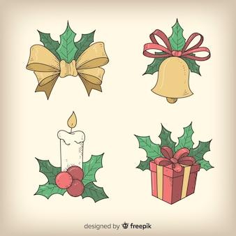 Collezione di decorazioni natalizie vintage