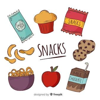 Collezione di deliziosi snack
