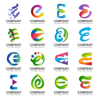 Collezione di design del logo lettera e