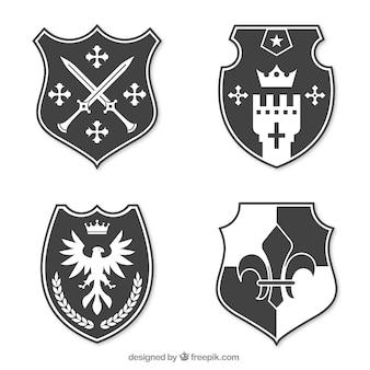 Collezione di design dell'emblema del cavaliere