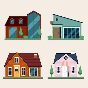 Collezione di design di architettura della casa