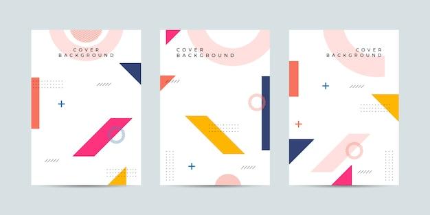 Collezione di design di copertina memphis