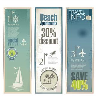 Collezione di design di viaggio
