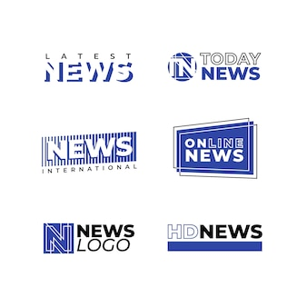 Collezione di design logo notizie