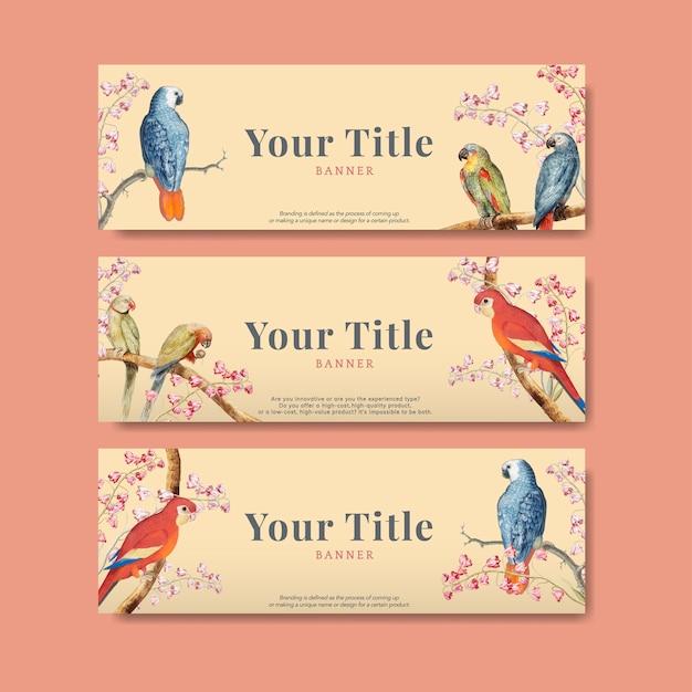 Collezione di design pappagallo